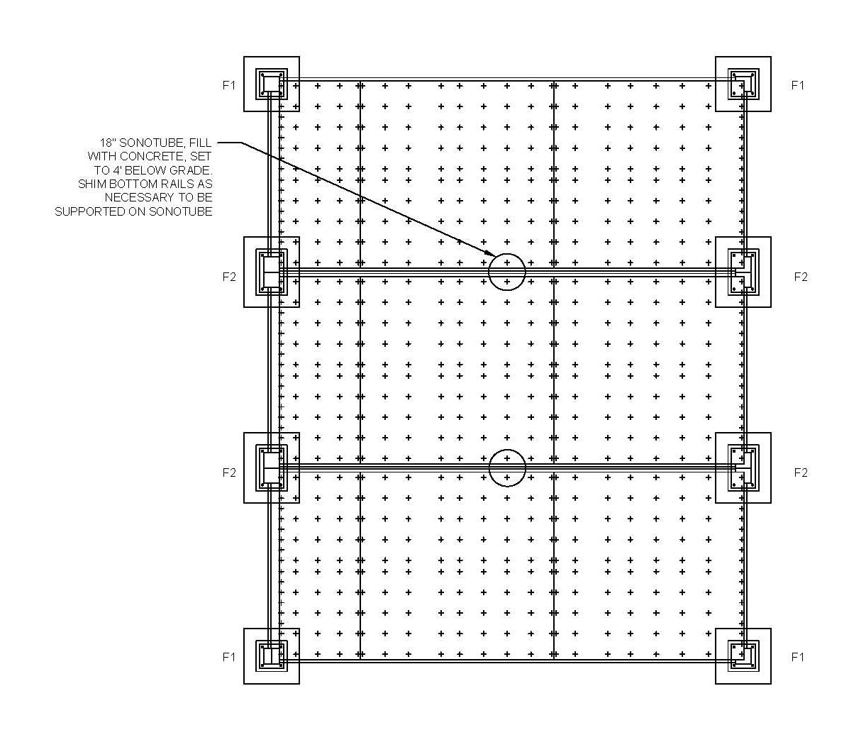 Woodwork cabin foundation plan pdf plans for House foundation plan