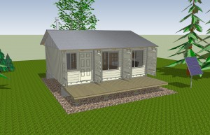 Cabin exterior in Google SketchUp