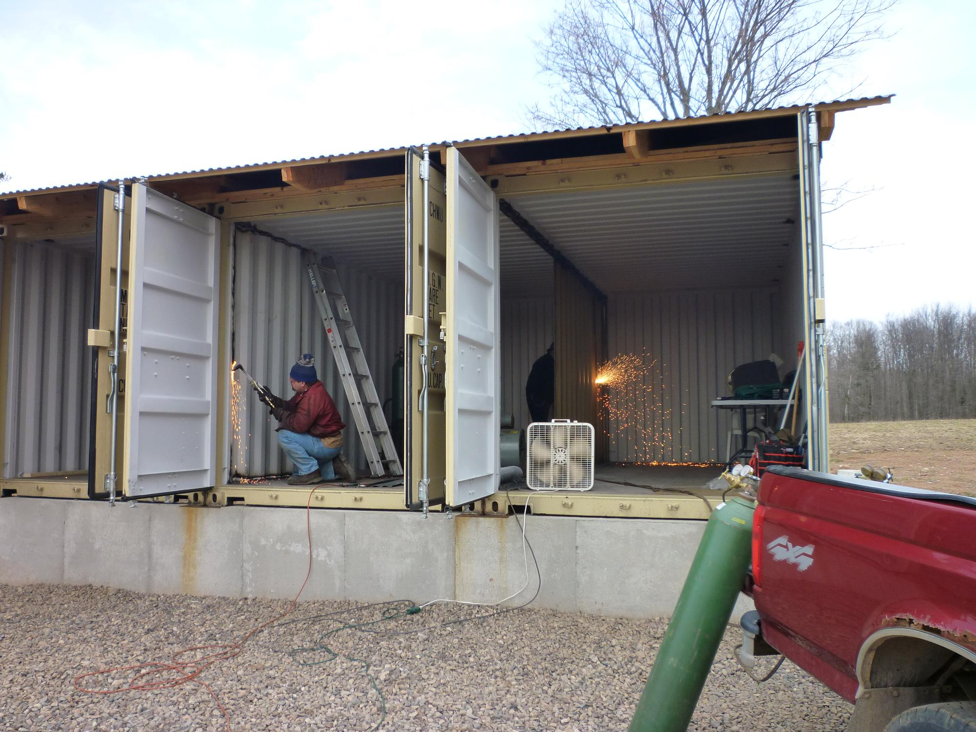 Removing structural components of a shipping container can quickly create a  dangerous structure to be in and around.