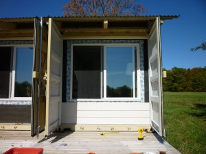 The Siding Is Up Tin Can Cabin