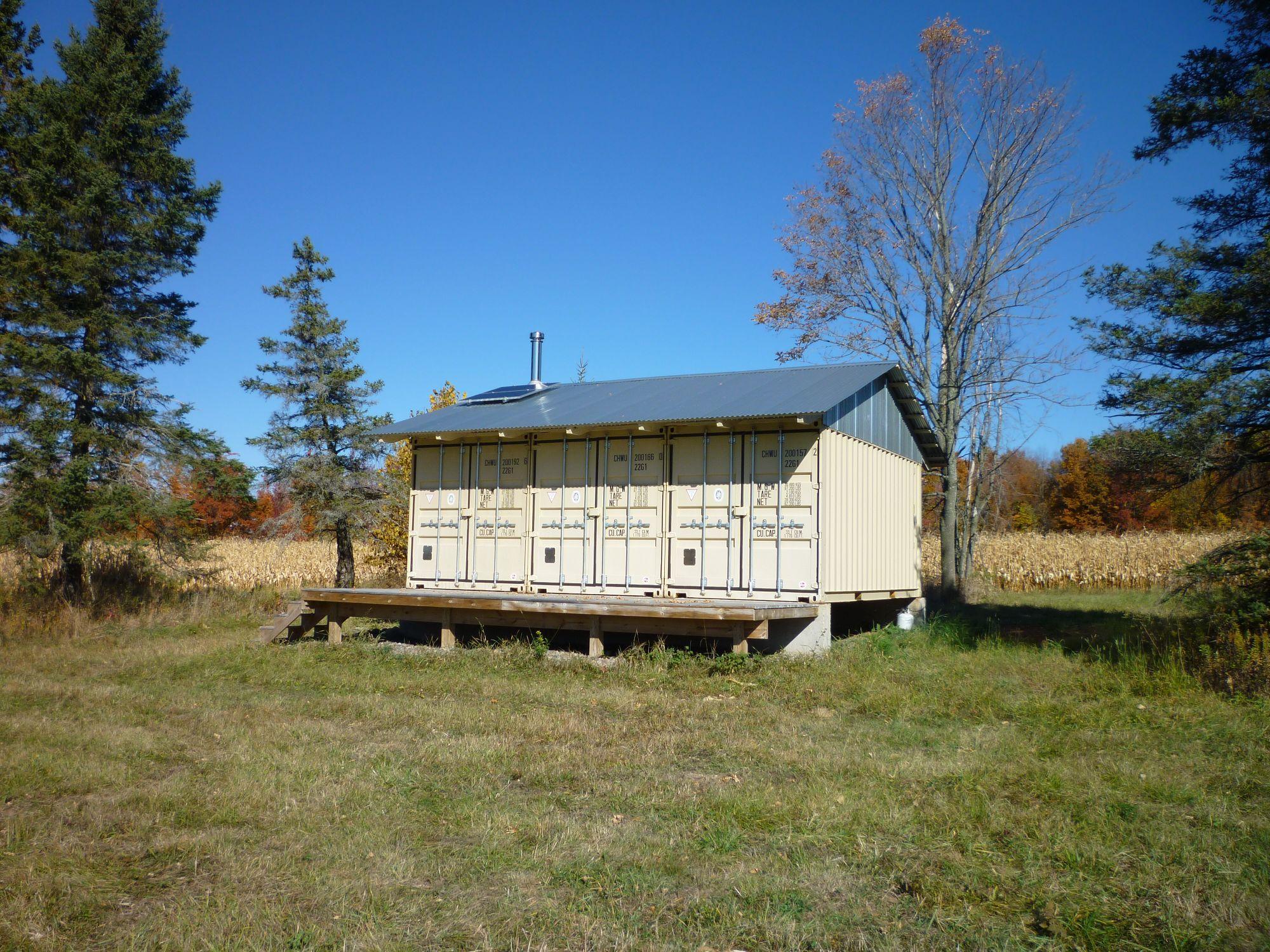 Solar Panels Tin Can Cabin